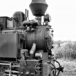 Old steam train. - Stock Photo