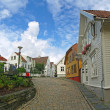 Stock Photo: Old houses in Stavanger, Norway.
