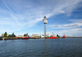 Port authority in Gdansk, Poland. — Stock Photo
