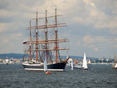 Le grand navires courses 2009 baltes, gdynia — Photo