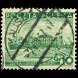 Royalty-Free Stock Photo: Vintage Polish post stamp, circa 1937s.