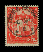 Vintage Polish post stamp, circa 1938s. — Stock Photo