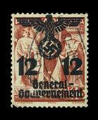 Vintage Polish post stamp, circa 1938s. — Stock Photo