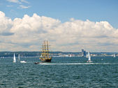 Tall ships taking race in Gdynia, Poland — Stock Photo