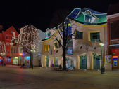 Crooked house in Sopot — Stock Photo