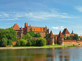The castle Malbork — Stock Photo