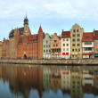 Stock Photo: Gdansk of Riverside at dawn