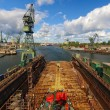 Gdansk Shipyard in a panorama - Stock Photo