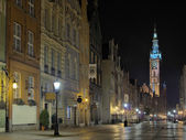 Gdansk Town Hall at night — Stock Photo