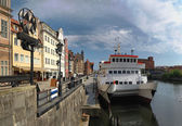 Riverside of Gdansk — Stock Photo