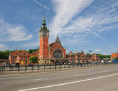Railway station in Gdansk — Stock Photo