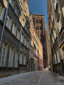 St. Mary's old cathedral in Gdansk — Stock Photo