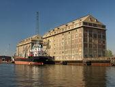 Port in Gdansk — Stock Photo