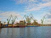 Shipyard in Gdansk — Stock Photo