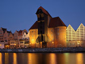 Gdansk of Riverside at dawn — Stock Photo