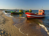 Fishing boats in Sopot — Stock Photo