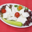 Plate with cheese — Stock fotografie