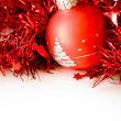 Christmas ball in red decoration — Stock Photo #2030963