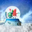 Stock Photo: Christmas snow globe