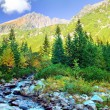 Mountains colorful landscape - Stock Photo