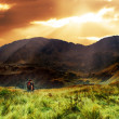 Mountains sunset landscape — Stok fotoğraf