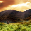 Mountains sunset landscape - Stok fotoğraf