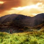Mountains sunset landscape — Stock Photo