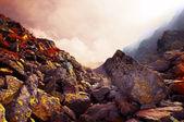 Paisagem de montanhas rochosas — Fotografia Stock