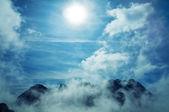 Sky mountains landscape — Stock Photo