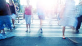 Rush on pedestrian crossing — Stock Photo