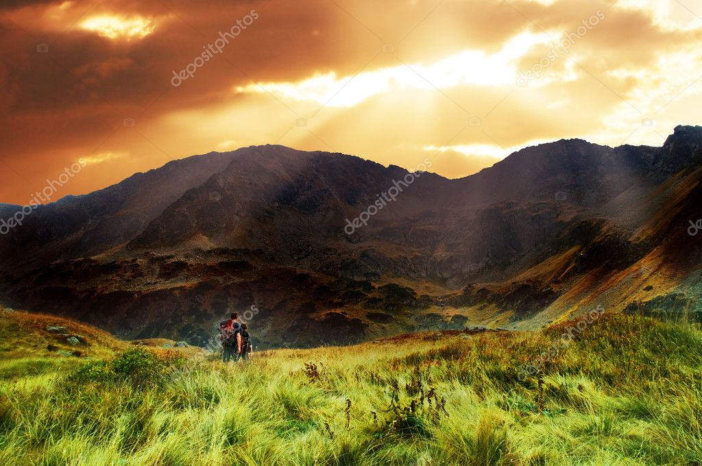 Mountains sunset landscape. Tatra colorful picture — Stock Photo #2035084