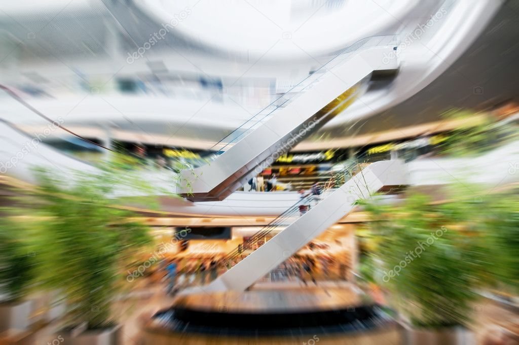 Shopping center. Abstract motion conceptual — Stock Photo #2036067