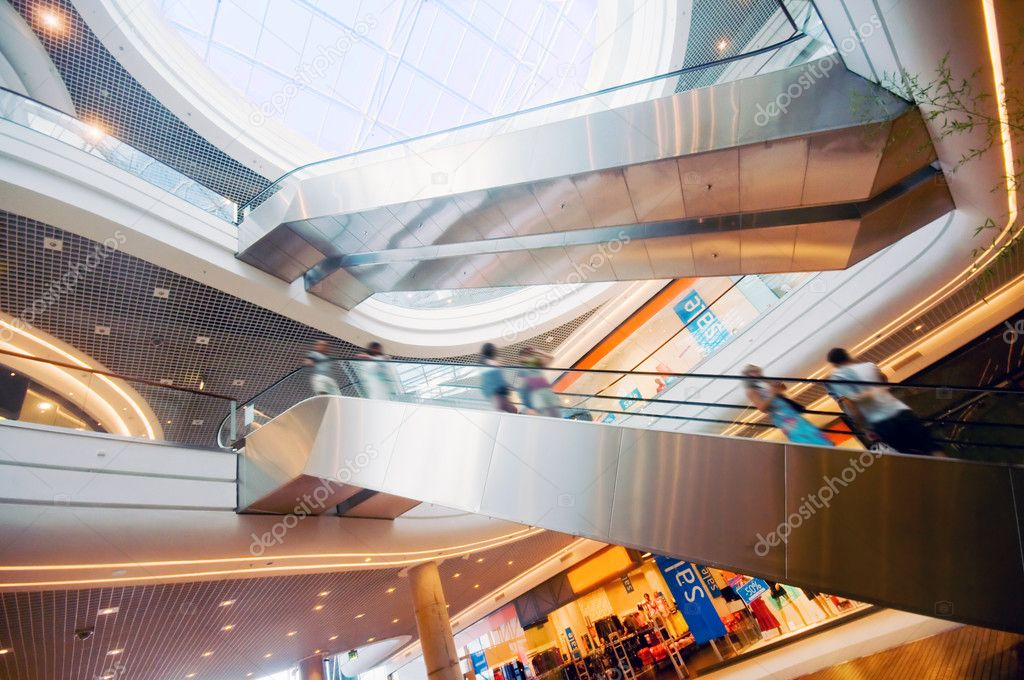 Modern shopping mall. The escalators — Stock Photo #2036133
