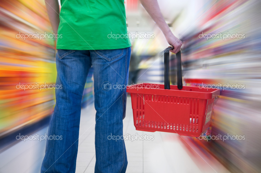 Customer in supermarket. Motion blur conceptual — Stock Photo #2036512