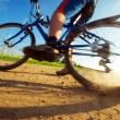 Extreme cycling sport — Stockfoto