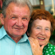 Elderly happy couple — Stock Photo #2044771