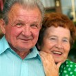 Stock Photo: Elderly happy couple