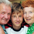 Stock Photo: Grandparents with grandson