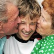 Grandparents with grandson - Foto Stock
