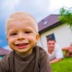niño feliz, feliz vida — Foto de Stock