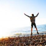 幸福的海滩风光 — 图库照片 #2045297