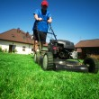 Mowing the lawn — Stock Photo #2045821