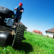 Mowing the lawn — Stok fotoğraf