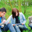 Young students learning outdoor — Stock Photo #2048545