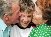 Grandparents with grandson — Stock Photo