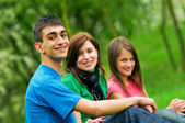 Young happy friends — Stock Photo