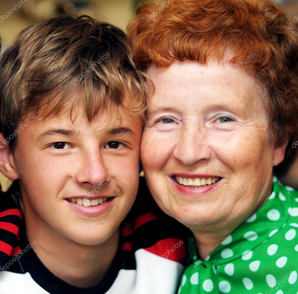 Grandmother with grandson family portrait — Stock Photo #2044823