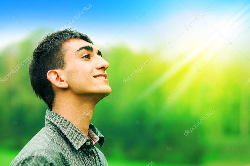 Portrait of a young happy man  — Stock Photo #2049027
