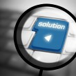 Solution button on keyboard — Stock Photo