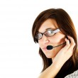 Friendly customer service agent — Stock Photo